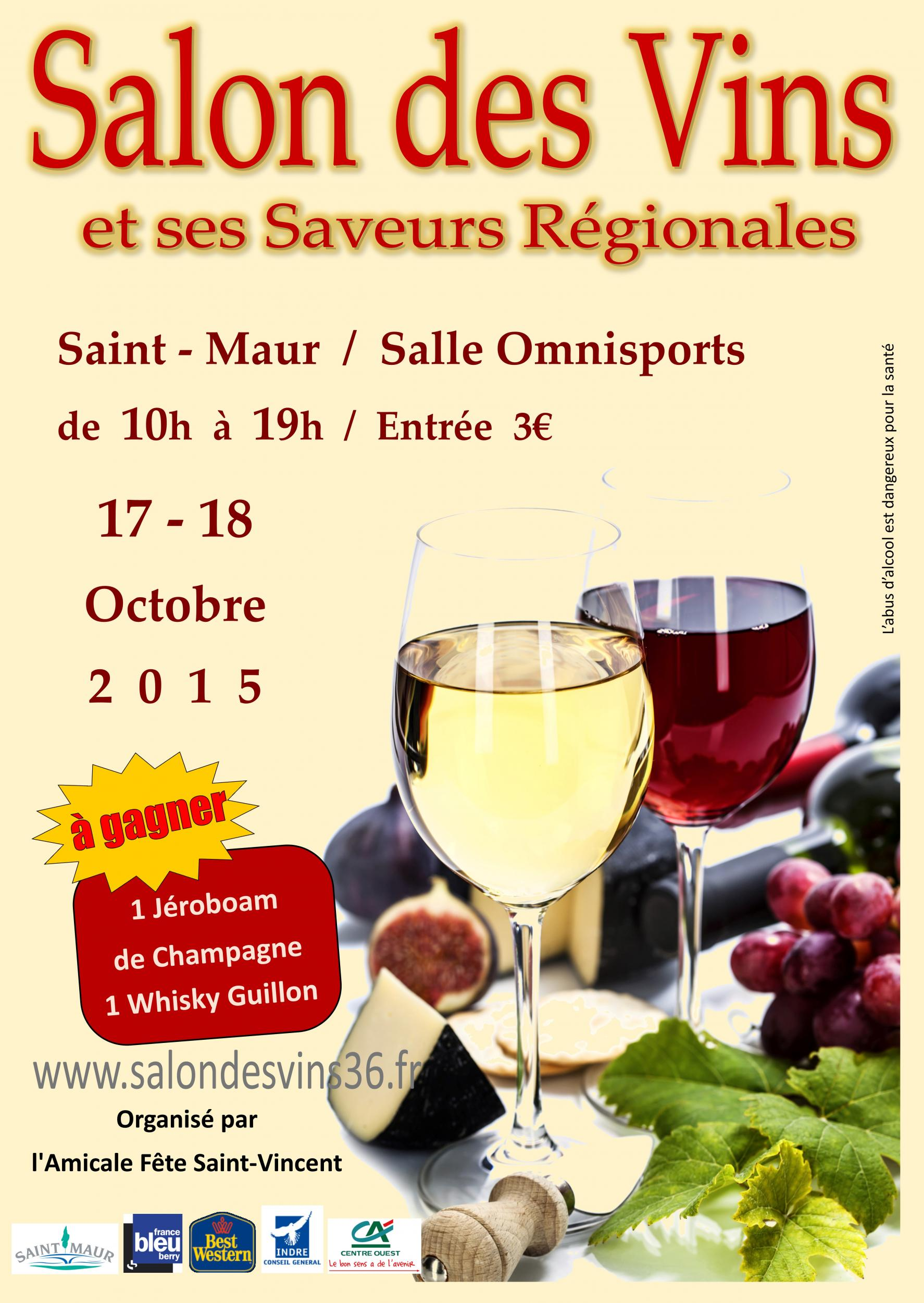 Salon des vins et ses saveurs r gionales 2015 mon viti for Calendrier salon des vins