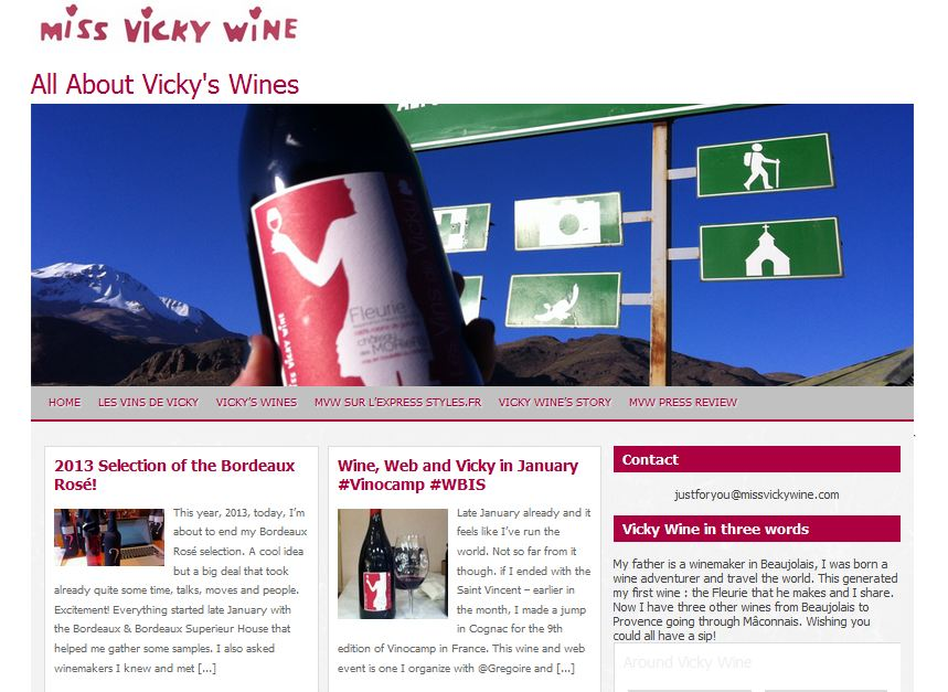 Blog de Miss Vicky Wine en anglais