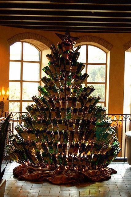 bouteille de vin noel