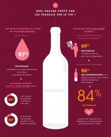 Quel est le regard porté par les français sur le vin? Infographie: Harris Interractive