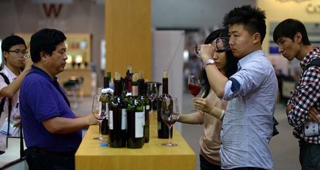 Consommateurs chinois de vin.