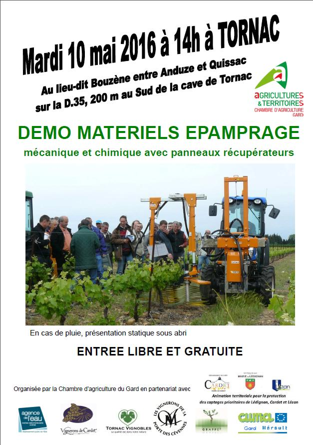 D monstration de mat riels d pamprage mon viti - Chambre d agriculture 66 ...