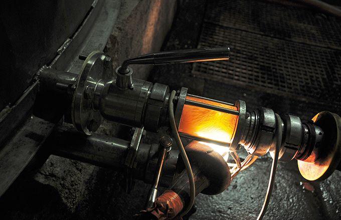 Les cuves de débourbage et de soutirage sont inertées  avec un mélange d'azote et de CO2 à 20 %.