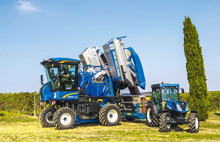 Nouvelle gamme de machines à vendanger série 9000 de New-Holland. © New-Holland