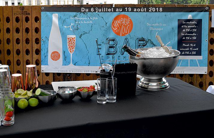 Un bar éphémère a été ouvert à Château-Thierry l'été2018, selon  les règles strictes de  la réglementation en vigueur. © Fleury