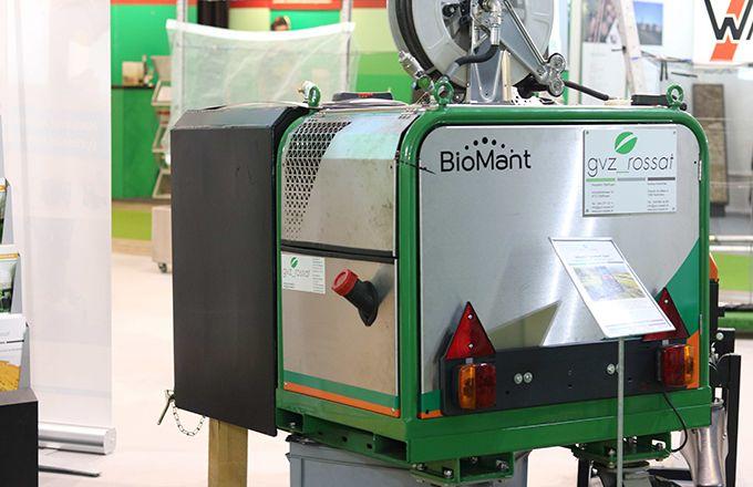 Biomant de GVZ Rossat est un prototype  de système embarqué de désherbage  à haute pression d'eau.