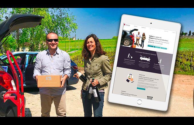 Œnocar permet  de connecter conducteurs  et viticulteurs, et ainsi de réduire les frais de livraison. Photo : DR