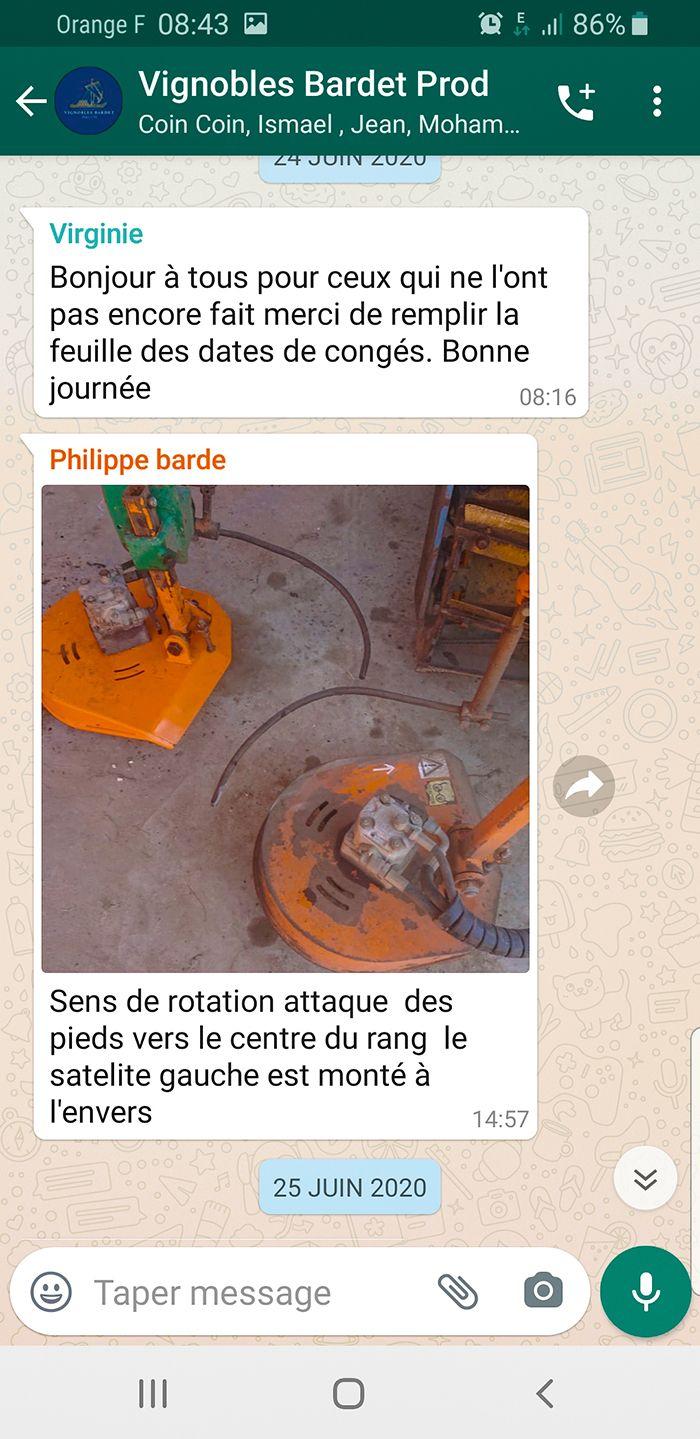 WhatsApp  est utilisé pour échanger  des informations diverses,  sur la détection de maladie,  sur le matériel…