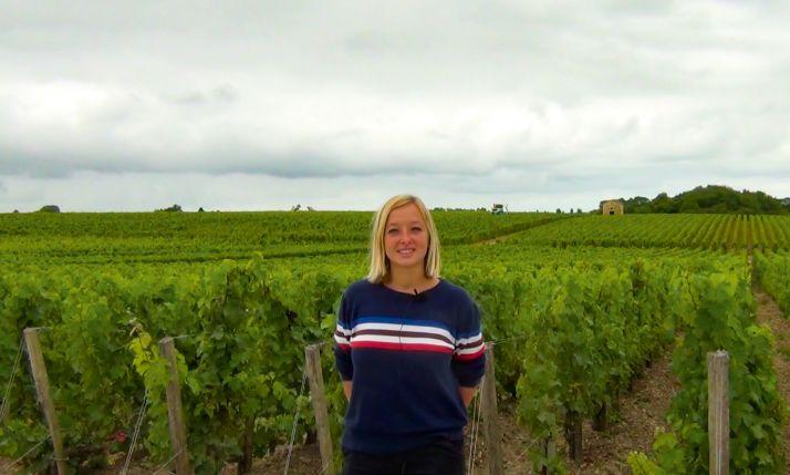 Lisa Gustafsson, responsable du vignoble au domaine Calon Ségur