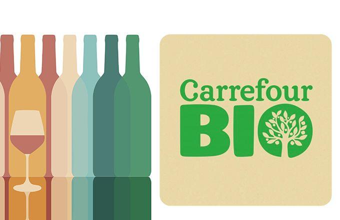 Près d'un tiers des vins  bio vendus dans  les magasins Carrefour  le sont avec la marque  du distributeur (MDD).