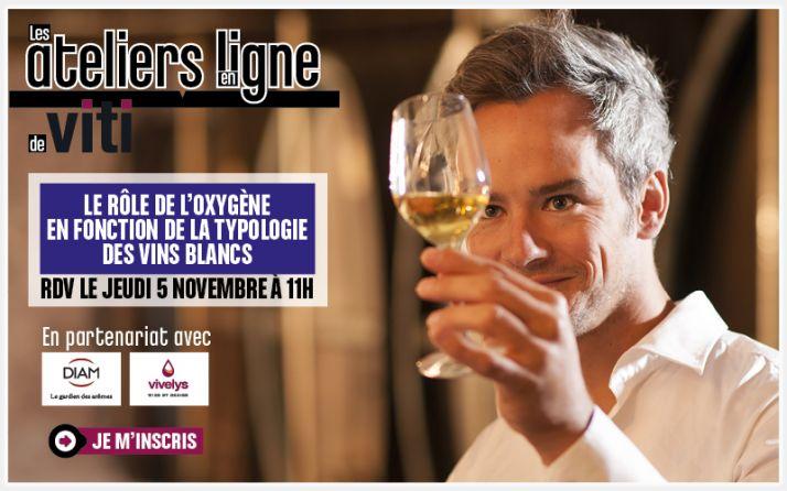Webinaire oenologie le rôle de l'oxygène en fonction de la typologie des vins blancs avec Diam et Vivelys