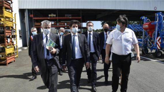 Visite du ministre de l'Agriculture et de l'Alimentation chez Carré à Saint Martin des Noyers (85) le vendredi 4 septembre 2020.