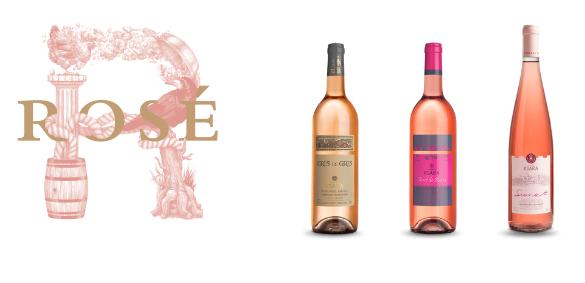 La gamme de vin rosé du chateau Ksara au Liban