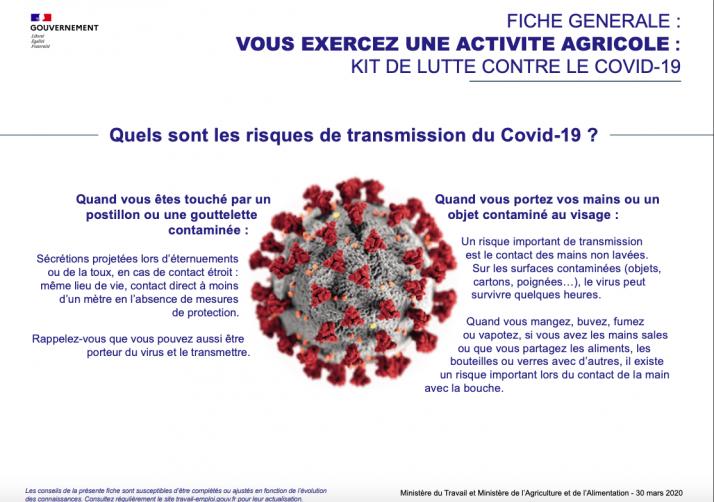 fiches conseils destinées aux employeurs et aux salariés, pour se protéger des risques de contamination au COVID-19.