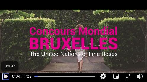 Concours Mondial de Bruxelles dédié aux vins rosés