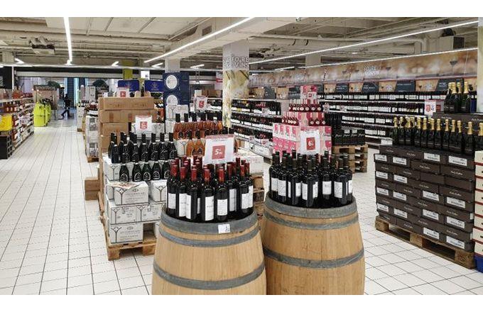 Une foire aux vins de printemps déserte durant le confinement un vendredi soir à 19h.