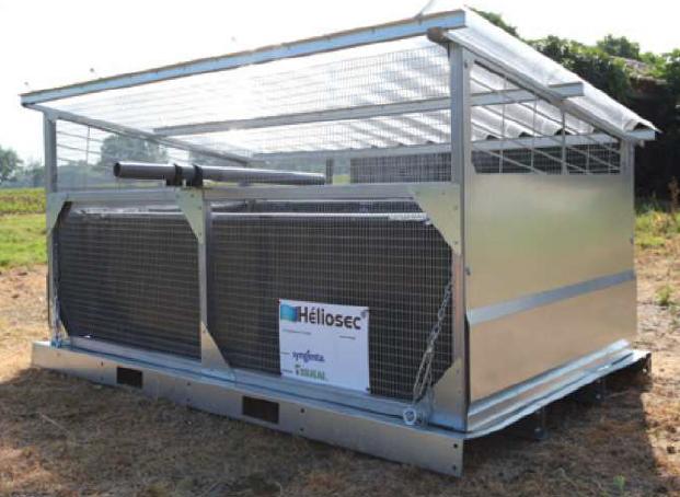 La gamme Héliosec, dispositif de gestion des effluents phytosanitaires, s'élargit avec un nouveau format de 2 m²