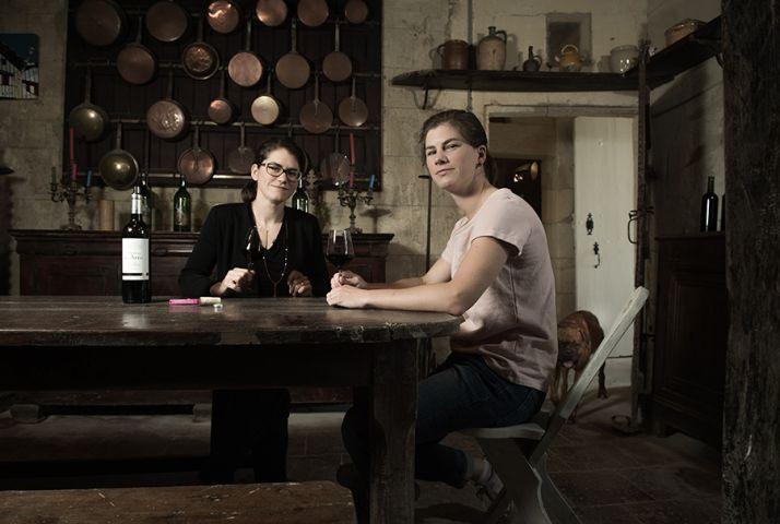 Anne-Cécile et Marie-Caroline, les demoiselles du Château des Arras.
