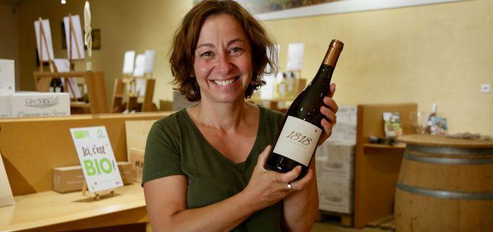 Dans la Dordogne, Muriel Landat-Pradeaux cultive des vignes en AOC Bergerac.