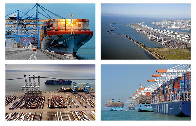 L'ensemble portuaire Haropa est relié à 700 autres ports dans le monde. AuHavre,  le complexe compte 3,5km de quais. C'est aujourd'hui  le premier port mondial  pour le transport de vins  et de spiritueux. CP : Haropa / Vincent Rustuel / E.Houri
