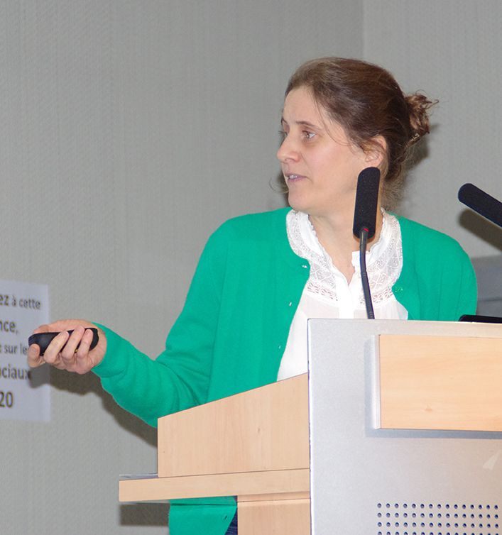 Marie Bonnisseau,  ingénieure viticulture à l'IFV. Photo : Marie-Dominique Guihard.