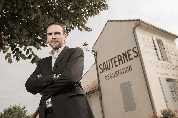 Portrait de Didier Galhaud, de la maison d'hôtes La Sauternaise, ambassadeur infatigable de l'appellation sauternes. Photo :  Jean Bernard Nadeau