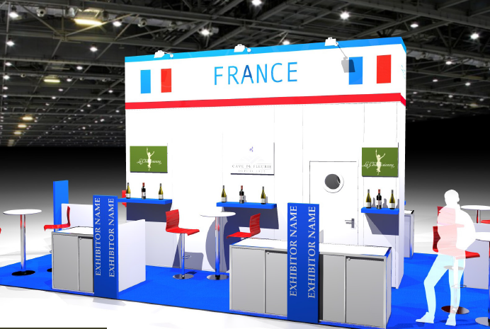 Stand pavillon France à la London Wine Fair