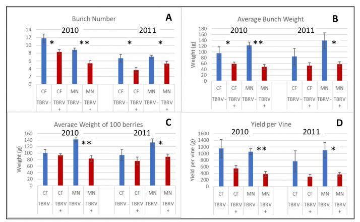 Résultats d'essais sur TBRV