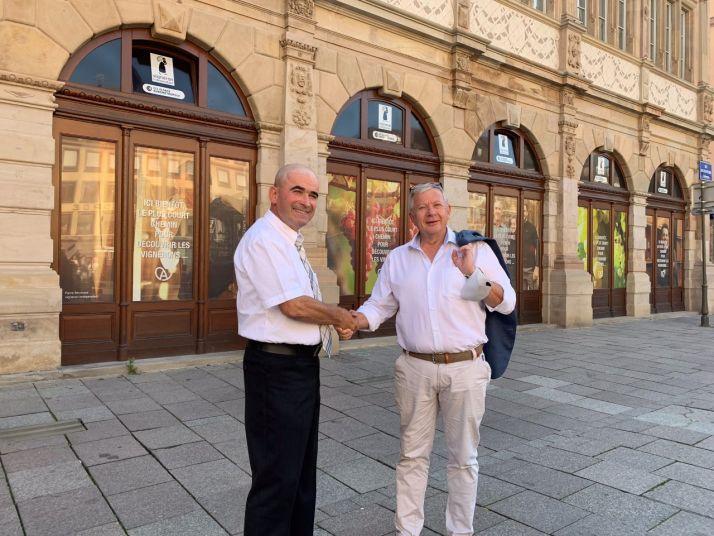 La SYNVIRA lance son projet de boutique des vins d'Alsace au Neubau, à Strasbourg. Photo SYNVIRA