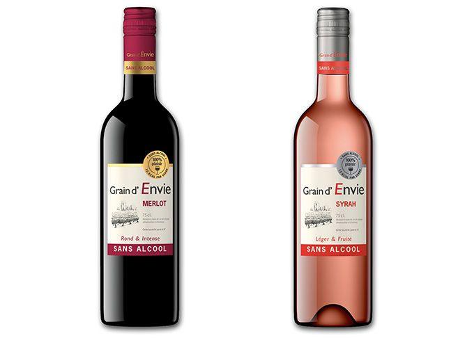 Tous les plaisirs liés au vin, sans les inconvénients de l'alcool: c'est le créneau sur lequel se positionnent les deux boissons «Grain d'envie». Photo : DR
