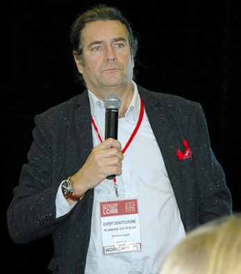 André Deyrieux, expert en œnotourisme et fondateur de Winetourisminfrance.com, a présenté ses dix conseils, au cours d'un workshop du dernier Salon des vins de Loire. Photo : O.Lévêque/Pixel Image