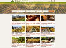 Pour faciliter la navigation des internautes, le site est organisé par région viticole. Bourgogne, Alsace, vallée  du Rhône et six autres vignobles ont leur onglet. Gîtes de France attend,  dans l'année, l'arrivée de Bordeaux dans ses rangs.