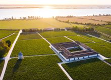 Le Château Latour, à Pauillac, compte 90 ha de vignes en production, intégrées dans un ensemble paysager varié comptant notamment 26 hectares de prairies naturelles. Photo : Vinexia