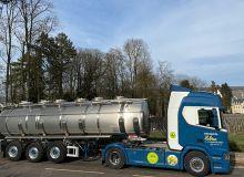 Avec une dizaine de véhicules convertis au B100 dès janvier2021 sur la cinquantaine du parc, les transports Lebrun visent 20camions roulant au biodiesel pour le milieu de l'année. Photo : Lebrun