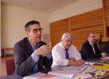 De gauche à droite  : Bruno Prévot, directeur commercial de Loire propriété,Jean-Michel Mignot, directeur de l'UAPL, Régis Alcocer, président des Caves de la Loire et Jérôme Lemasson, directeur du pôle vin de l'UAPL.