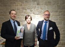 De gauche à droite : Julien Durand-Réville, Eugénia Pommaret et Nicolas Kerfant de l'UIPP ont présenté la plateforme mon-phyto-pratique-fr à la presse le 23 février 2017. Photo S.Bot/Pixel image