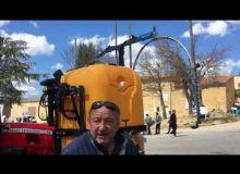 La rampe de pulvérisation premier traitement vigne de Calvet