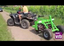 Le rouleau Rolofaca Gerber monté sur un quad