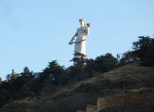 Statut évoquant la vigne et le vin à Tbilissi en Géorgie  (S.Badet)
