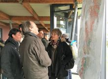 Lors des entretiens du Beaujolais, les vignerons ont pu échanger avec les auteurs de l'étude devant une carte grand format.