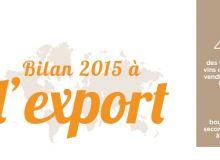 Bilan export 2015 des vins de Bordeaux par le  CIVB.  DR