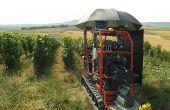 Marie-Aure Bourgeon souhaitait concevoir un dispositif utilisable en conditions réelles par les viticulteurs. Elle  a donc employé différentes techniques lui permettant de travailler à la lumière naturelle. © Marie-Aure Bourgeon