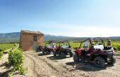 Chez les Vignerons du mont Ventoux, la balade dans les vignes peut se faire à pied accompagné de coopérateurs bénévoles ou en buggy! Photo : Vignerons du mont Ventoux