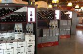 La cave coopérative de l'Hostellerie des vignerons de Rognes dans les Bouches-du-Rhône a pris le parti de faire des cartons des éléments de décoration au sein du caveau de vente.  Photo : S.Favre/Pixel Image