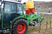 Les semoirs de semis direct adapté à la viticulture se développent tant chez les constructeurs qu'en auto-construction. Photo : Gerber