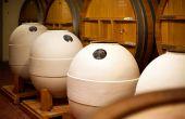 L'élevage du rosé Nuances se fait en foudre et en jarre.  PHOTOS: Château de Pibarnon
