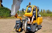 Il a conçu une machine à vendanger de 1,5 tonne. © F. Roussel/Pixel Image