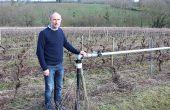 Vincent Dugué a équipé une partie de ses vignes avec un système d'aspersion anti-gel. CP : C.Henri