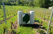 Système anti-gel dans les vignes du domaine du Chapitre en Belgique (B.Hautier)