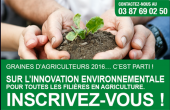 Les inscriptions au concours Graines d'Agriculteurs sont ouvertes jusqu'au 31/03/2016 !